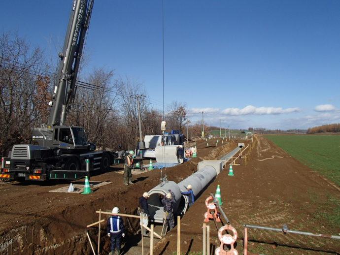 鉄筋コンクリート管設置状況